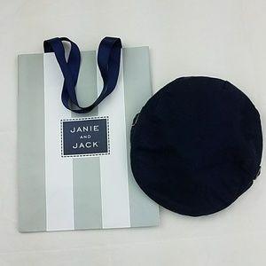 Janie and Jack Navy Blue Linen Cotton Newsboy Hats
